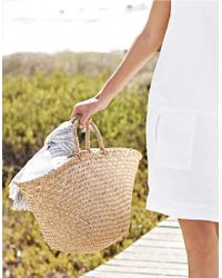 The White Company - Straw Basket Bag - Natural - Lyst