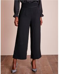 The White Company - Cropped Wide Leg Trousers - Lyst