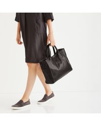 The White Company - Leather Signature Tote Bag - Lyst