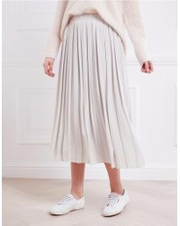 The White Company - Pleated Skirt - Lyst