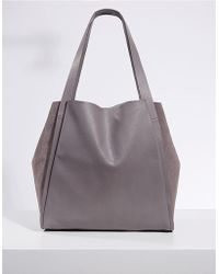 The White Company - Leather Suede Tote Bag - Lyst