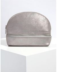The White Company - Suede Sparkle Make-up Bag - Lyst