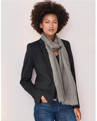 The White Company - Wool Spot Scarf - Lyst