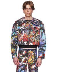 CHARLES JEFFREY LOVERBOY - C-back Painted Denim Jacket - Lyst