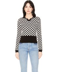 VEDA - M.t.v. Sweater Black And White Check - Lyst