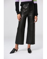 VEDA - Vance Leather Trouser Black - Lyst