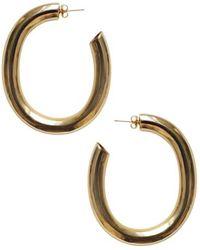 Laura Lombardi - Curve Earrings Brass - Lyst