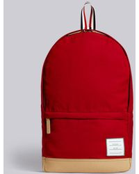 eed9549c1c86 Thom Browne - Red Unstructured Backpack - Lyst