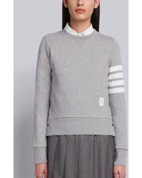 Thom Browne - 4-bar Stripe Sweatshirt - Lyst