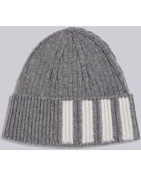 Thom Browne - Ribbed Cashmere Hat - Lyst