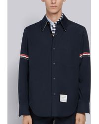 Thom Browne - Solid Nylon Armband Shirt Jacket - Lyst