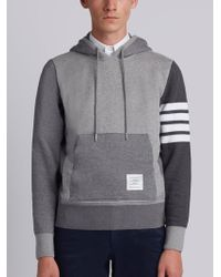 Thom Browne - Hoodie Pullover With Tonal Fun Mix In Classic Loop Back With Engineered 4-bar - Lyst