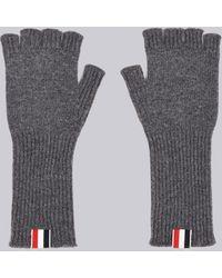 572e1022bd0 Thom Browne Fingerless Merino Wool Gloves in Blue for Men - Lyst