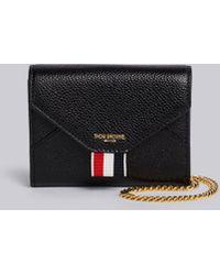 818f6b585578 Lyst - Prada Saffiano Leather Short Zip Around Wallet in Blue