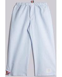Thom Browne - Pyjama Pant In Blue & White University Stripe Oxford - Lyst