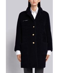 Thom Browne - Reversible Sack Overcoat In Dyed Shearling - Lyst