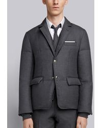 Thom Browne - Center-back Stripe Down Sport Coat - Lyst