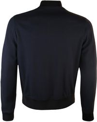 PS by Paul Smith - Textured Bomber Jacket Navy - Lyst