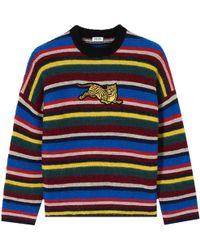 KENZO - Jumping Tiger Colour Block Sweater Multicoloured - Lyst