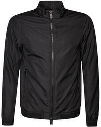 Emporio Armani - Blouson Jacket Black - Lyst