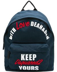 DSquared² - With Love Backpack - Lyst