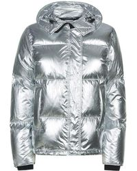 KENZO - Metallic Puffer Hooded Jacket Silver - Lyst