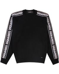 DSquared² - Logo Stripe Jumper Black - Lyst