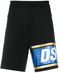 DSquared² - Logo Stripe Shorts - Lyst