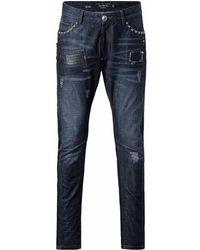 "Philipp Plein ""love Jeans"" Biker Jeans - Blue"