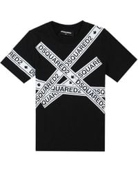 DSquared² - All Over Taped T-shirt - Lyst