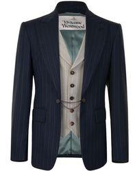 Vivienne Westwood - Waistcoat Pinstripe Blazer Navy - Lyst