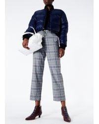 Tibi - Savanna Crepe Sweatshirt With Nylon Back - Lyst