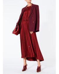 Tibi - Mendini Twill Pleated Dress - Lyst