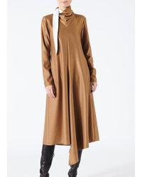 Tibi - Viscose Drape Bandana Dress - Lyst
