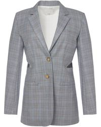 Tibi - Cooper Silk Wool Cut Out Blazer - Lyst
