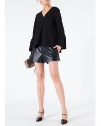 Tibi - Tissue Leather Pull On Shorts - Lyst