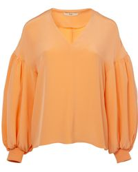 Tibi - Silk Balloon Sleeve Top - Lyst