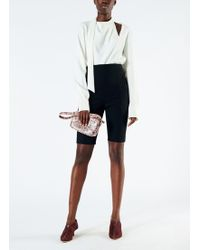 Tibi - Anson Stretch High Waisted Biker Shorts - Lyst