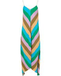 Tibi - Striped Asymmetric Hem Dress - Lyst