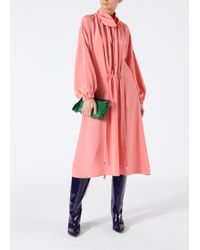 Tibi - Silk Drawstring Ruched Dress - Lyst