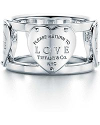 Return to Tiffany Love wide ring in sterling silver - Size 5 Tiffany & Co. xltFXVntA