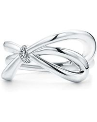 Tiffany & Co. - Tiffany Bow Ring In 18k White Gold With Diamonds - 4 - Lyst