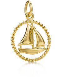 Tiffany & Co. - Tiffany Twist Sailboat Charm In 18k Gold, Small - Lyst