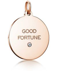 "Tiffany & Co. - ""good Fortune"" Tag In 18k Rose Gold With A Diamond, Medium - Lyst"