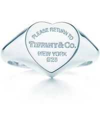Tiffany & Co. - Heart Signet Ring - Lyst