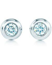 Tiffany & Co. - Elsa Peretti. Diamonds By The Yard. Earrings In Sterling Silver - Size .06 - Lyst