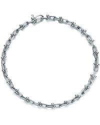Tiffany & Co. - Tiffany City Hardwear Micro Link Bracelet In Sterling Silver, Medium - Lyst