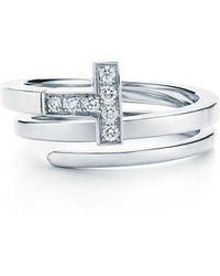 bf34c279f Tiffany & Co. - Tiffany T Square Wrap Ring In 18ct White Gold With Diamonds