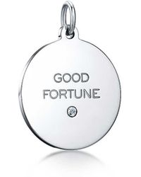 "Tiffany & Co. - Tiffany Charms ""good Fortune"" Tag In Silver With A Diamond, Medium - Lyst"