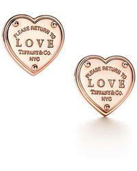 Tiffany & Co. - Love Earrings - Lyst